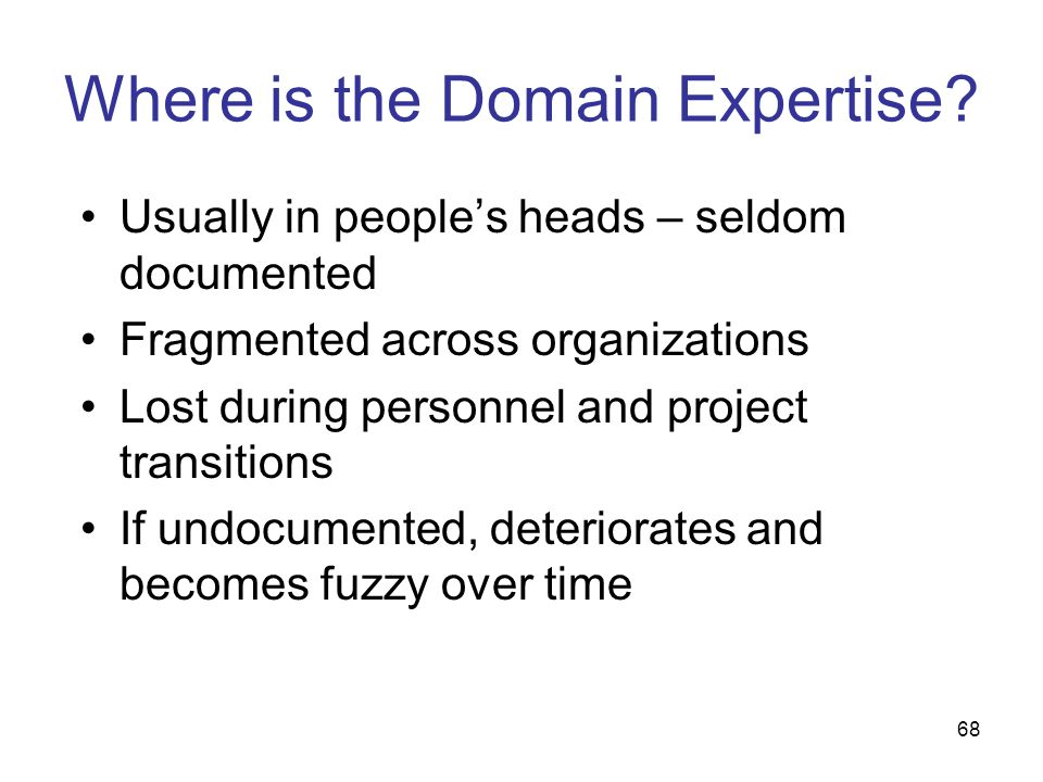 Where is the Domain Expertise