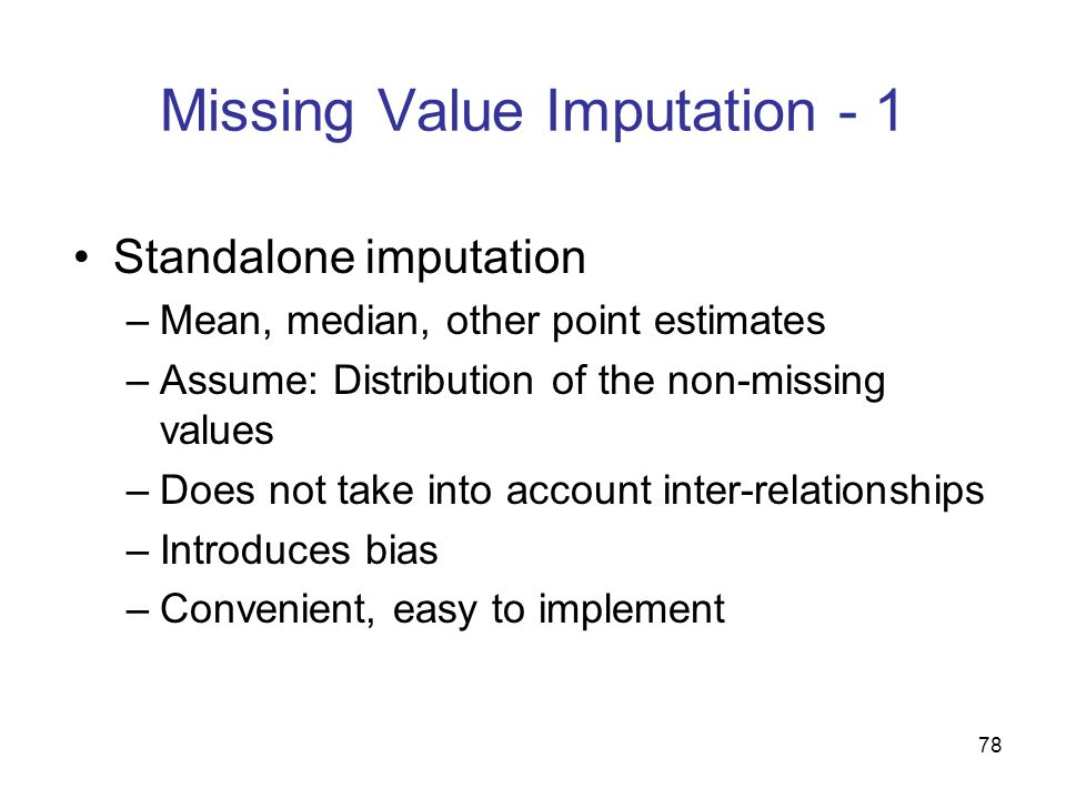Missing Value Imputation - 1