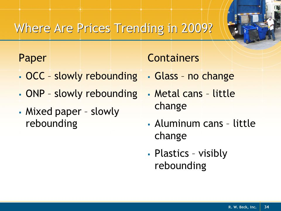 Where Are Prices Trending in 2009
