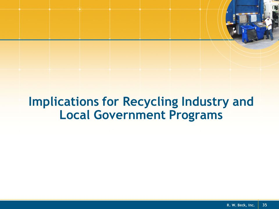 Implications for Recycling Industry and Local Government Programs