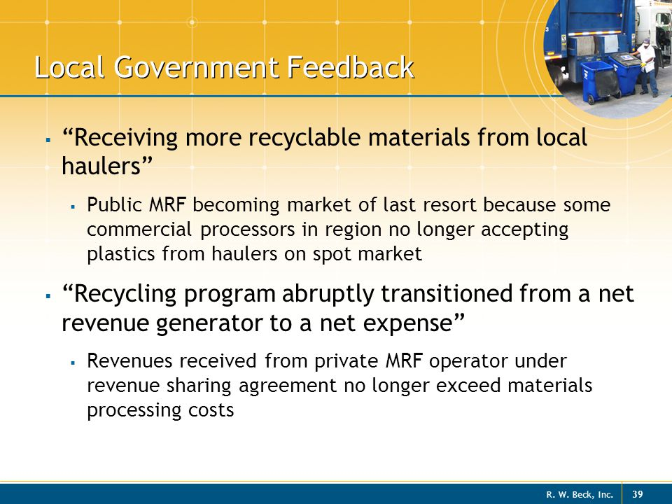 Local Government Feedback