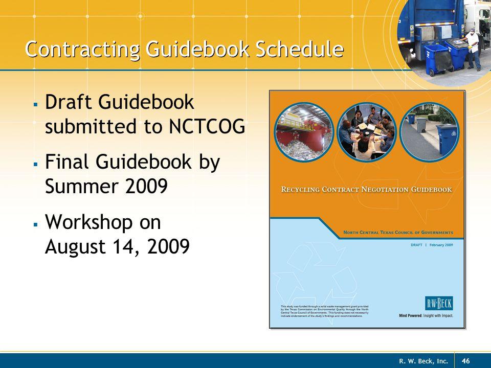Contracting Guidebook Schedule