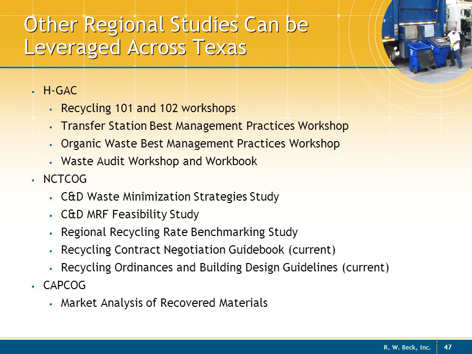 Other Regional Studies Can be Leveraged Across Texas