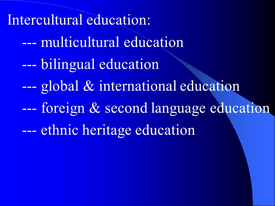Intercultural education: