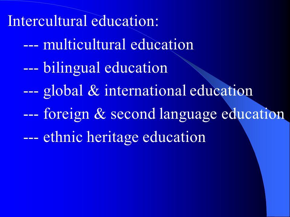 Intercultural education: