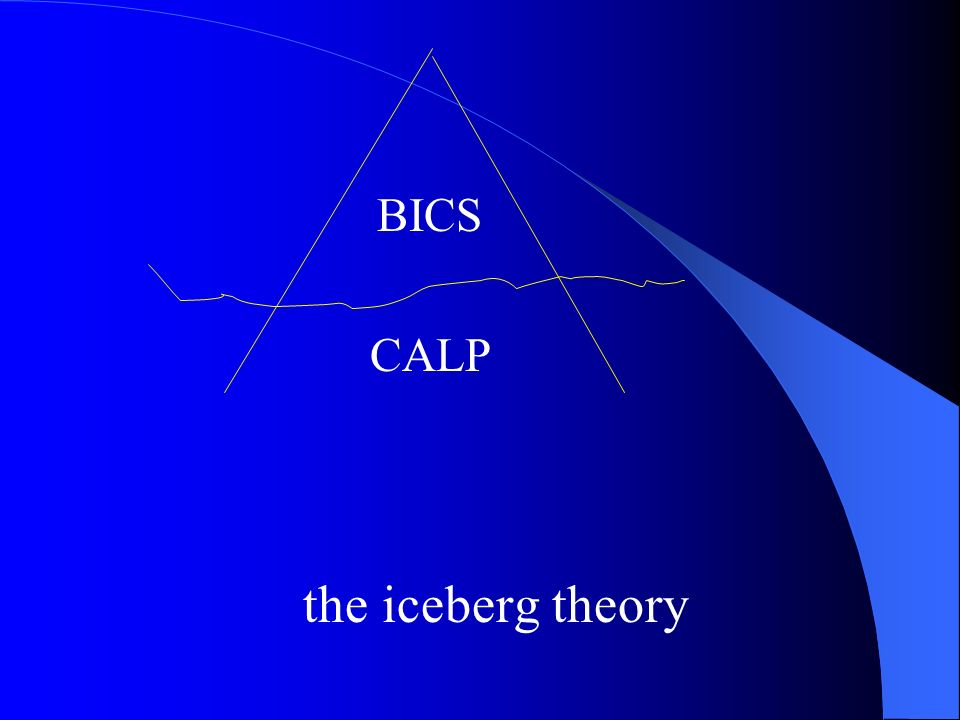 BICS CALP the iceberg theory