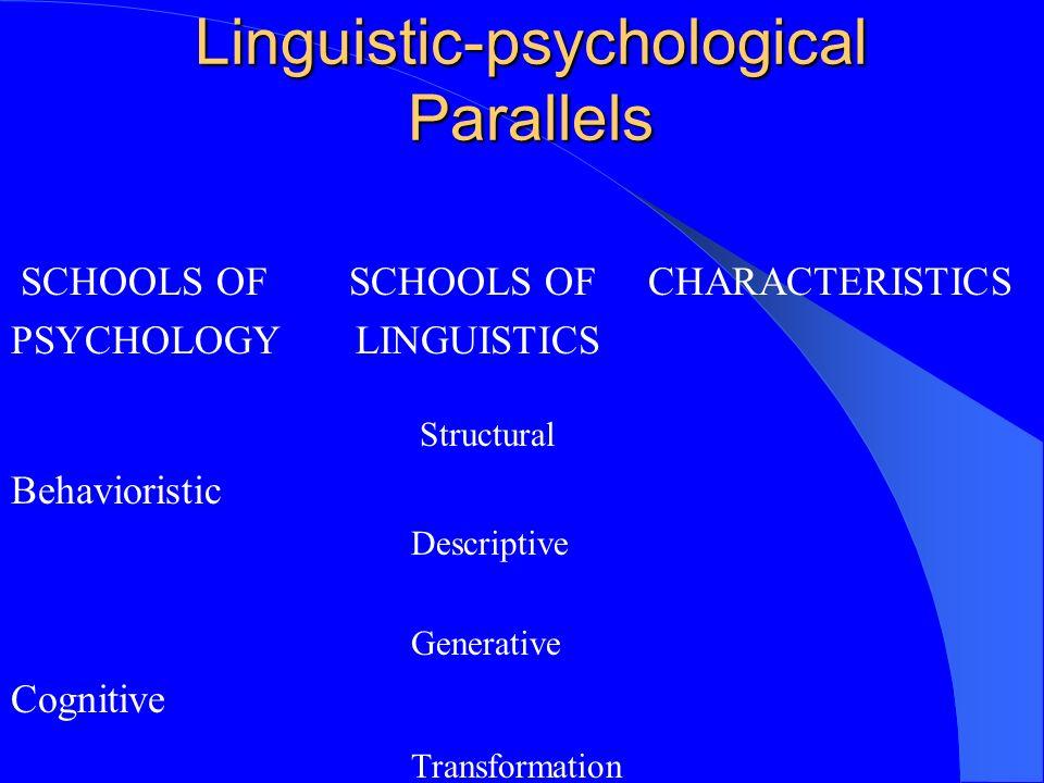 Linguistic-psychological Parallels