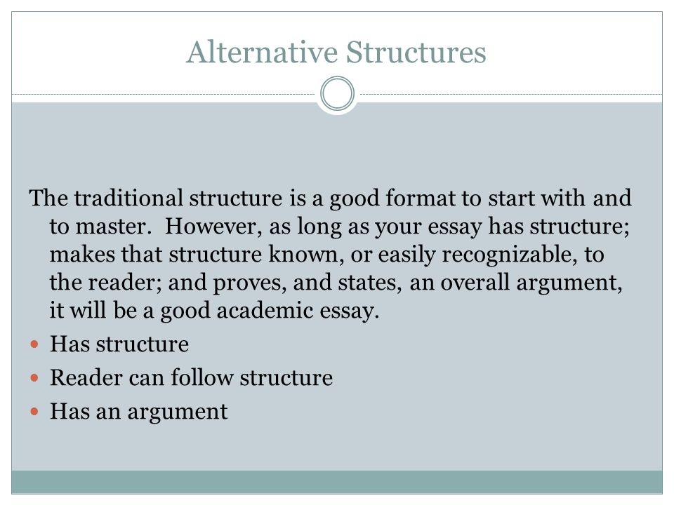 even essays have a story to tell ppt  alternative structures