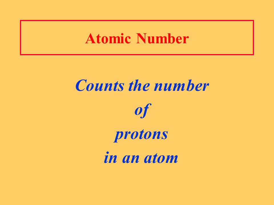 Counts the number of protons in an atom