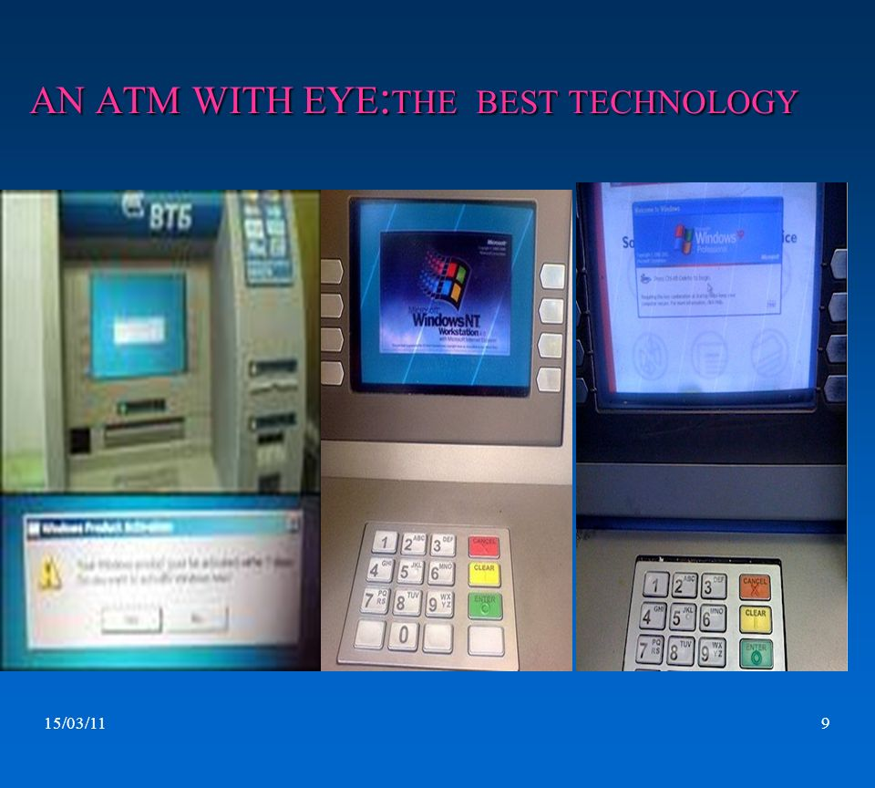 AN ATM WITH EYE:THE BEST TECHNOLOGY