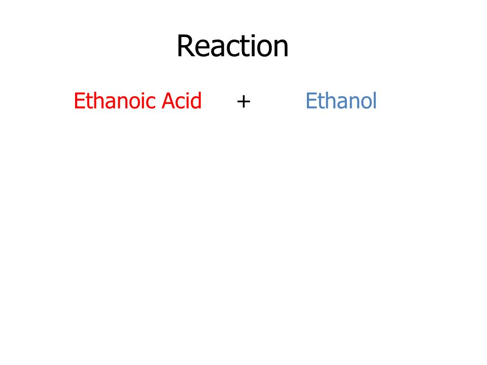 Reaction Ethanoic Acid + Ethanol