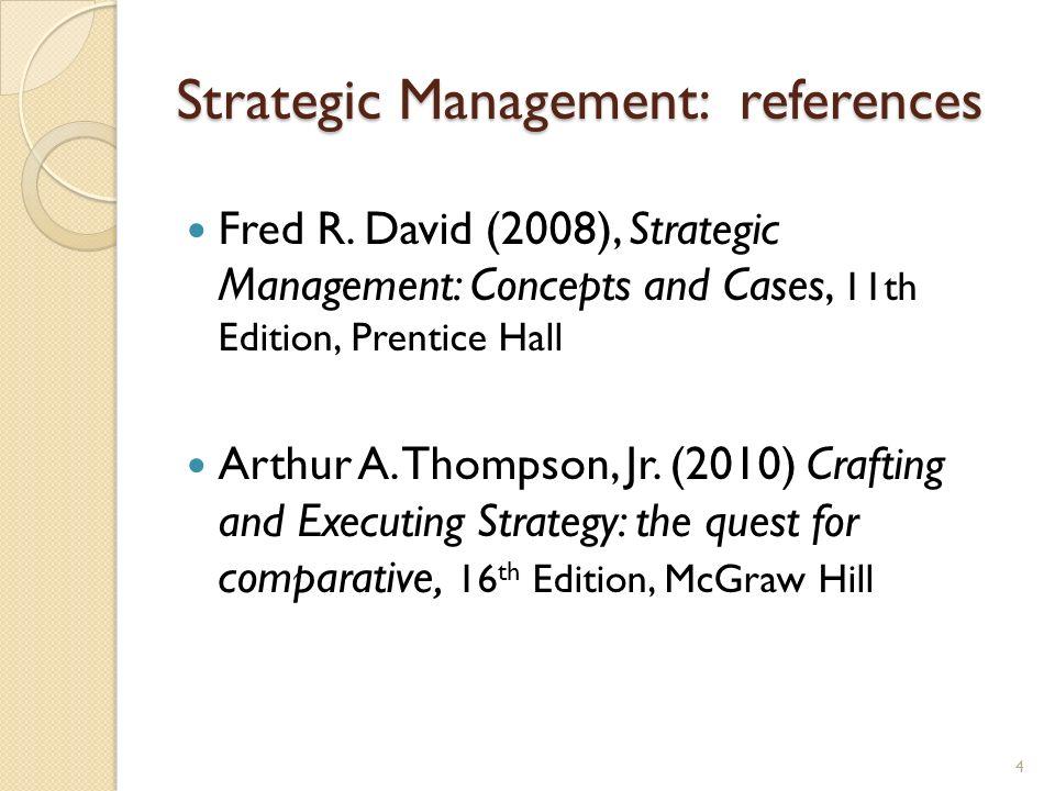Strategic Management: references