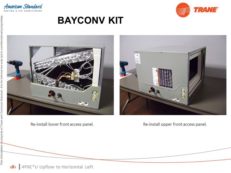 BAYCONV KIT 4PXC*U Upflow to Horizontal Left