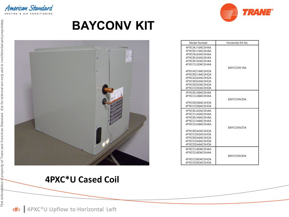 BAYCONV KIT 4PXC*U Cased Coil 4PXC*U Upflow to Horizontal Left
