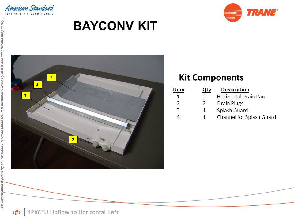 BAYCONV KIT Kit Components 4PXC*U Upflow to Horizontal Left