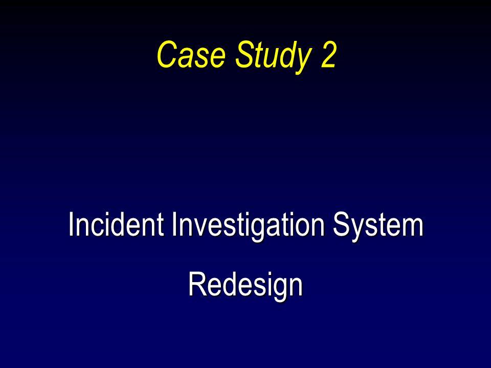 Incident Investigation System Redesign