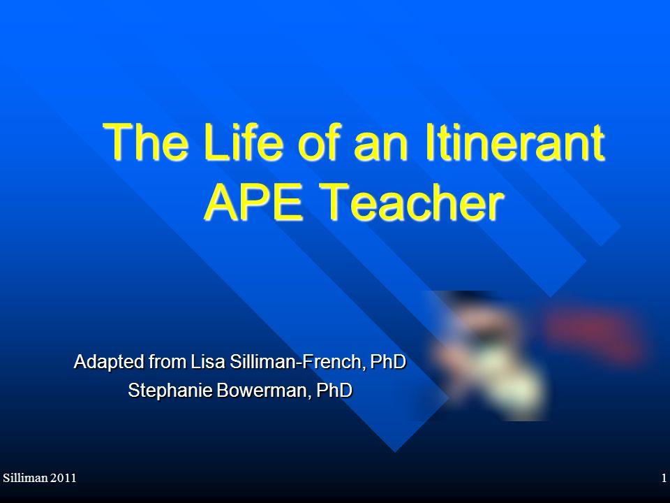 The Life of an Itinerant APE Teacher