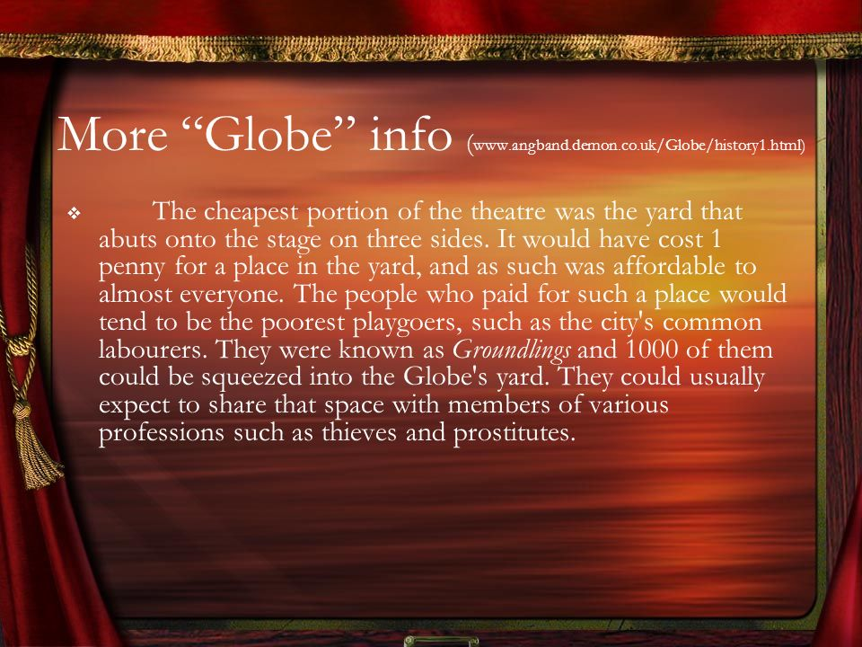 More Globe info (www.angband.demon.co.uk/Globe/history1.html)