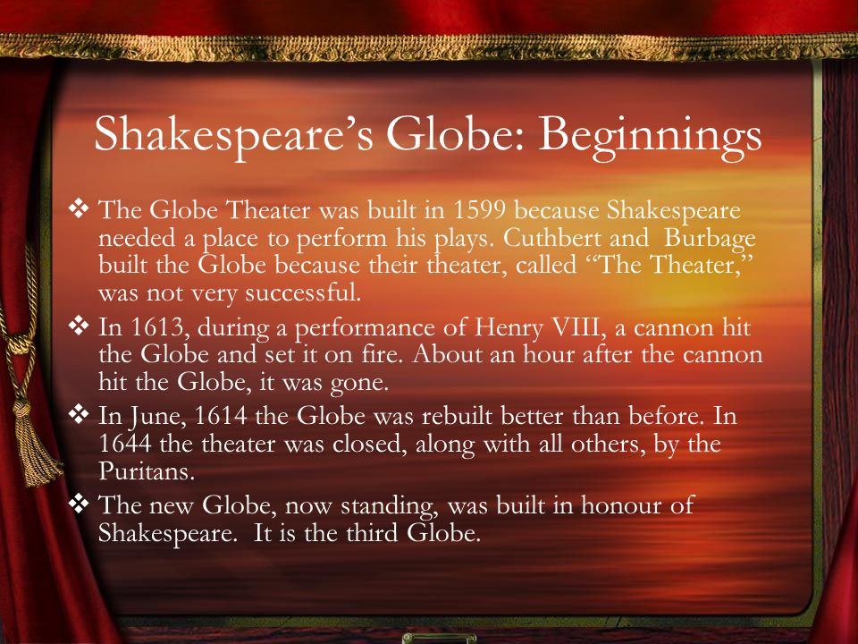 Shakespeare's Globe: Beginnings