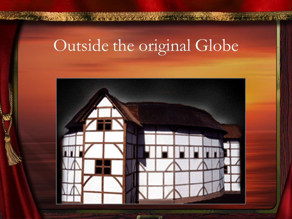 Outside the original Globe