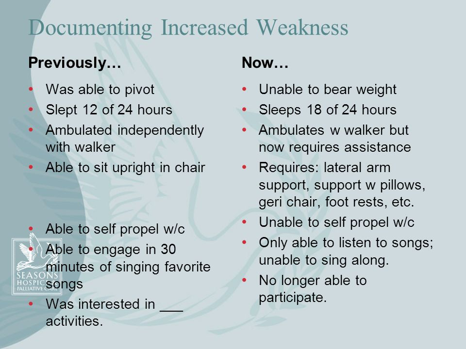 Documenting Increased Weakness