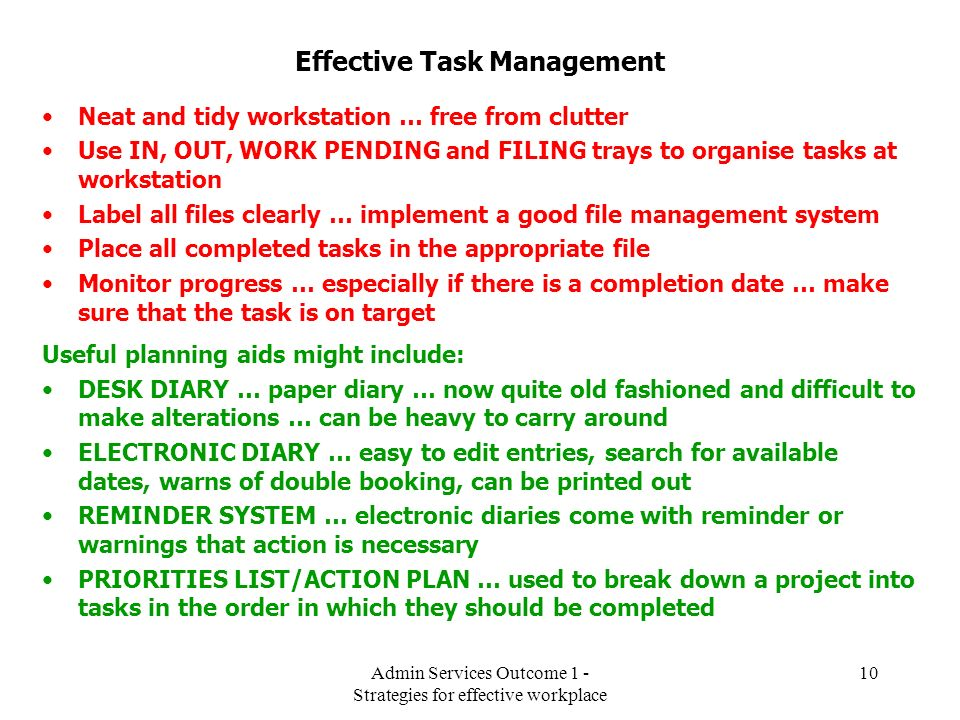 Effective Task Management