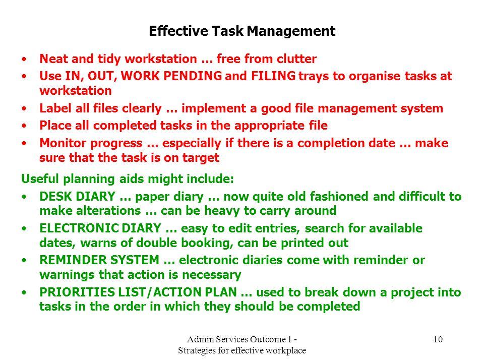 Effective Task Management