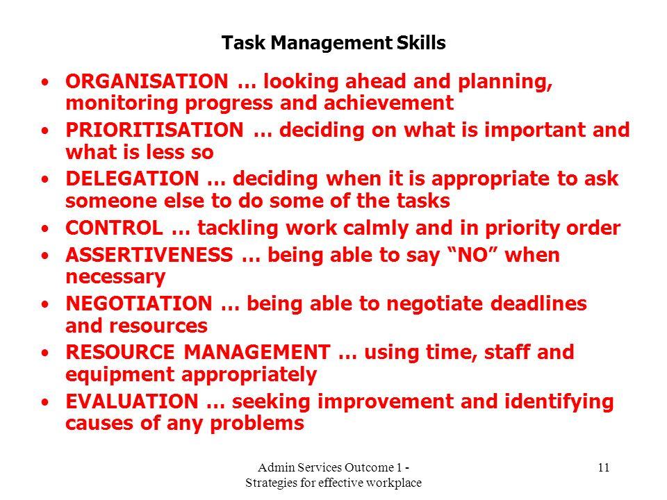 Task Management Skills