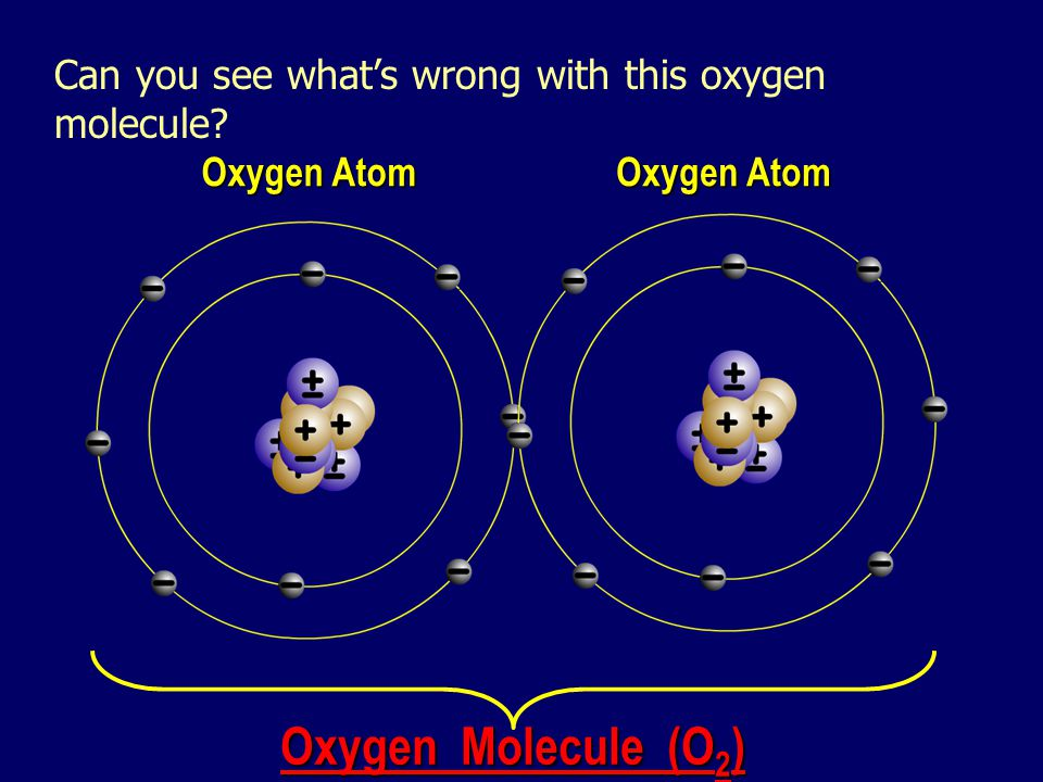 Can you see what's wrong with this oxygen molecule