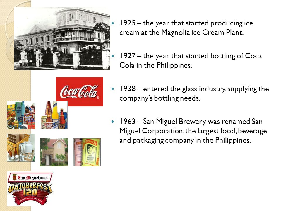 1925 – the year that started producing ice cream at the Magnolia ice Cream Plant.