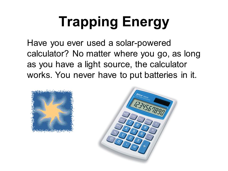 Trapping Energy Interest Grabber. Section 8-2.