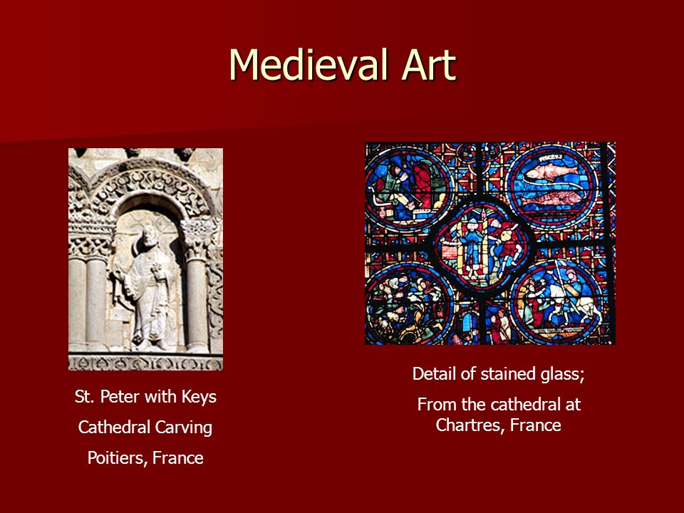 Medieval Art Detail of stained glass;
