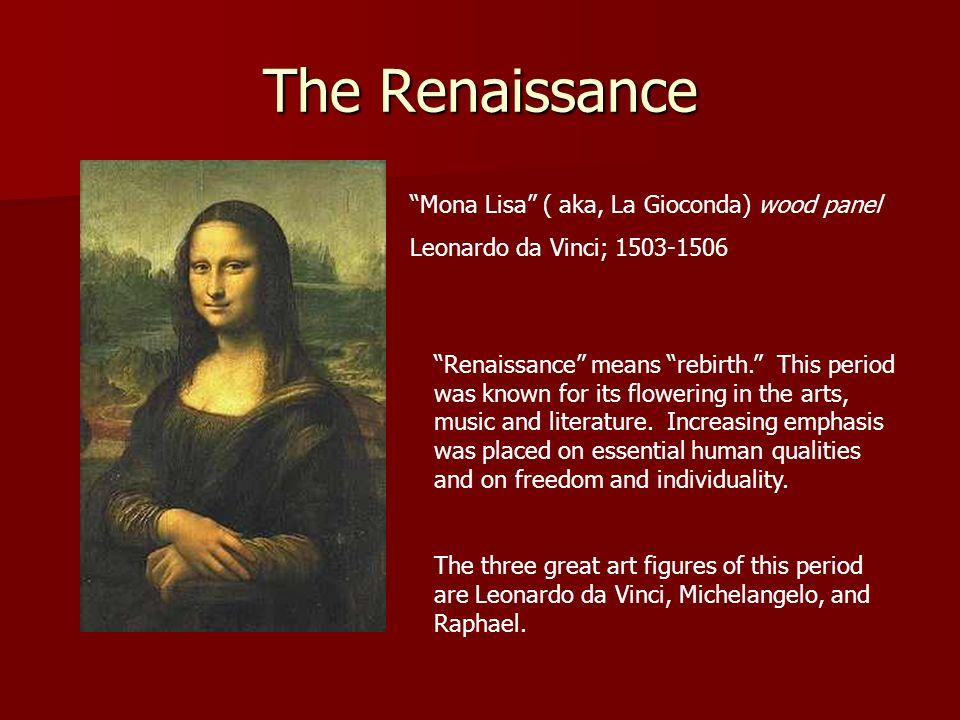 The Renaissance Mona Lisa ( aka, La Gioconda) wood panel