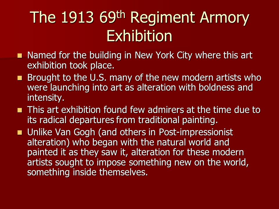 The 1913 69th Regiment Armory Exhibition