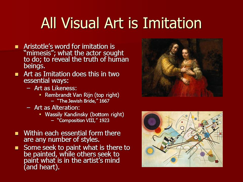 All Visual Art is Imitation