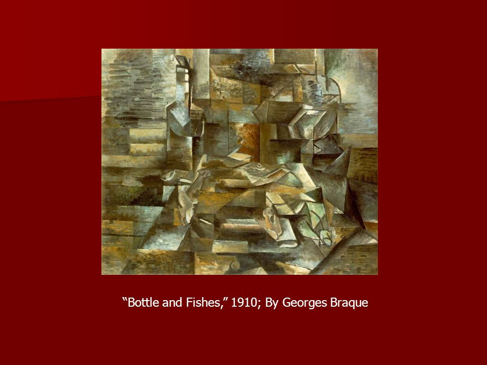 Bottle and Fishes, 1910; By Georges Braque