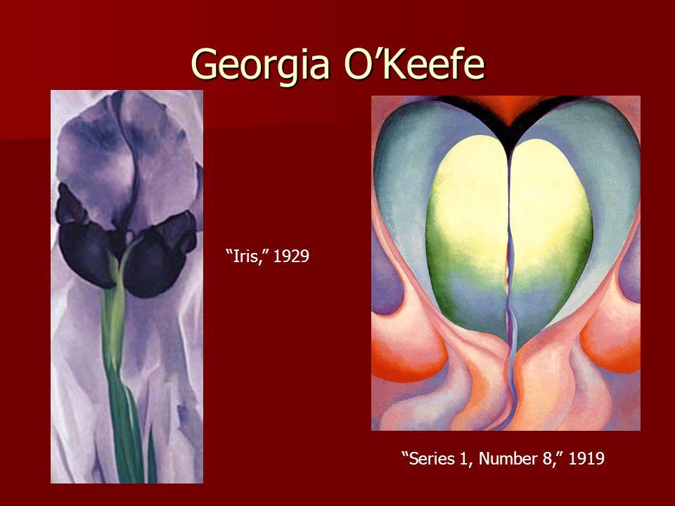Georgia O'Keefe Iris, 1929 Series 1, Number 8, 1919