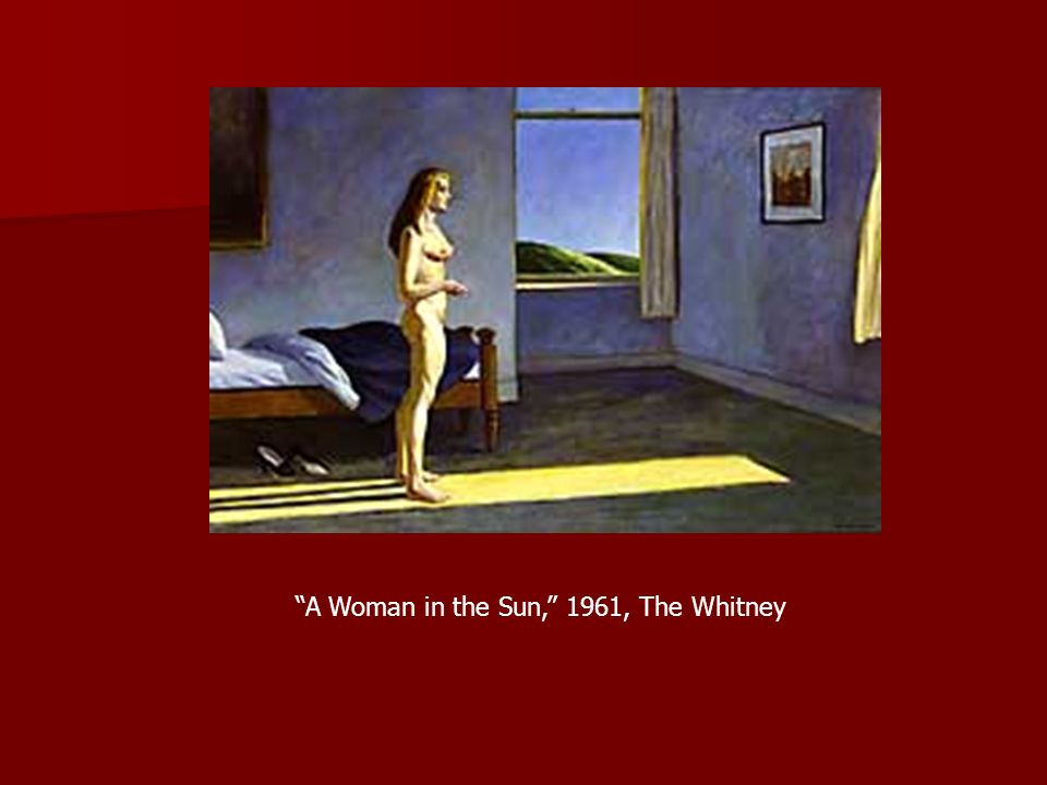A Woman in the Sun, 1961, The Whitney