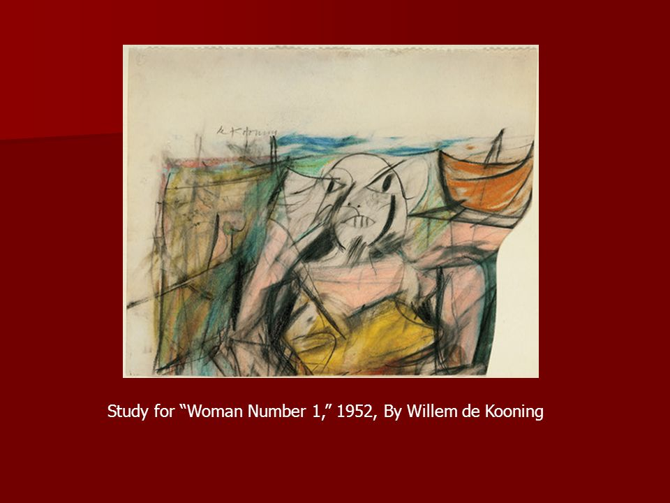 Study for Woman Number 1, 1952, By Willem de Kooning