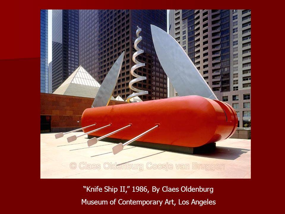 Knife Ship II, 1986, By Claes Oldenburg