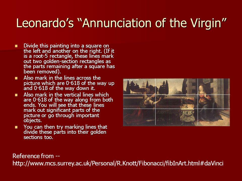 Leonardo's Annunciation of the Virgin