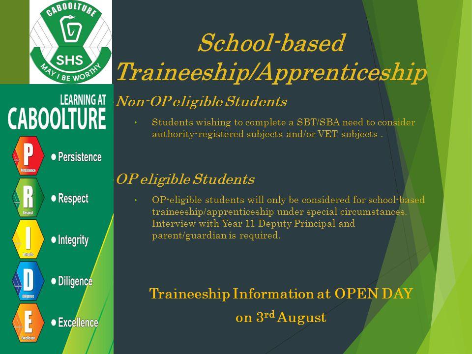 School-based Traineeship/Apprenticeship