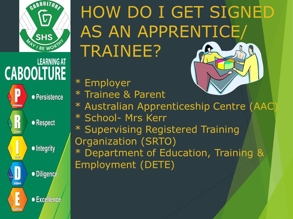 HOW DO I GET SIGNED AS AN APPRENTICE/ TRAINEE