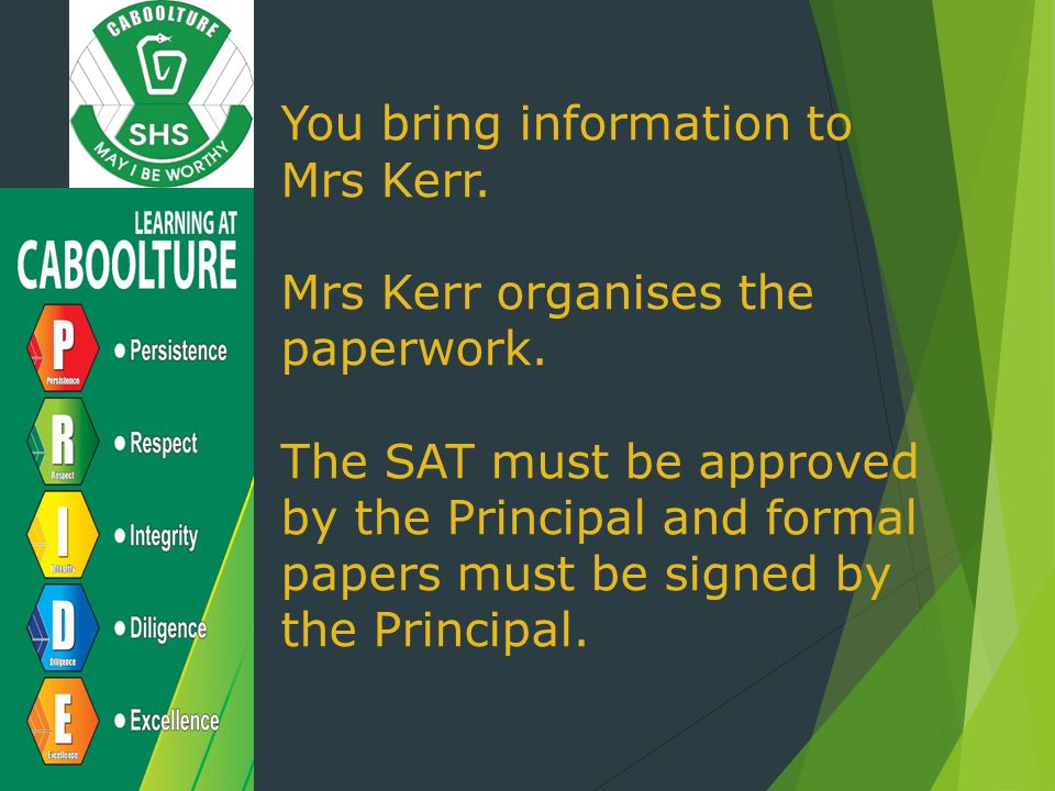 You bring information to Mrs Kerr.