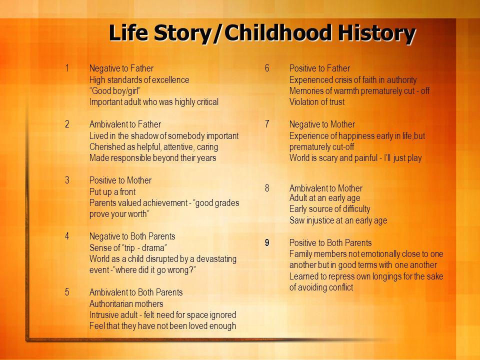 Life Story/Childhood History
