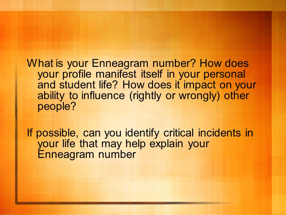 What is your Enneagram number