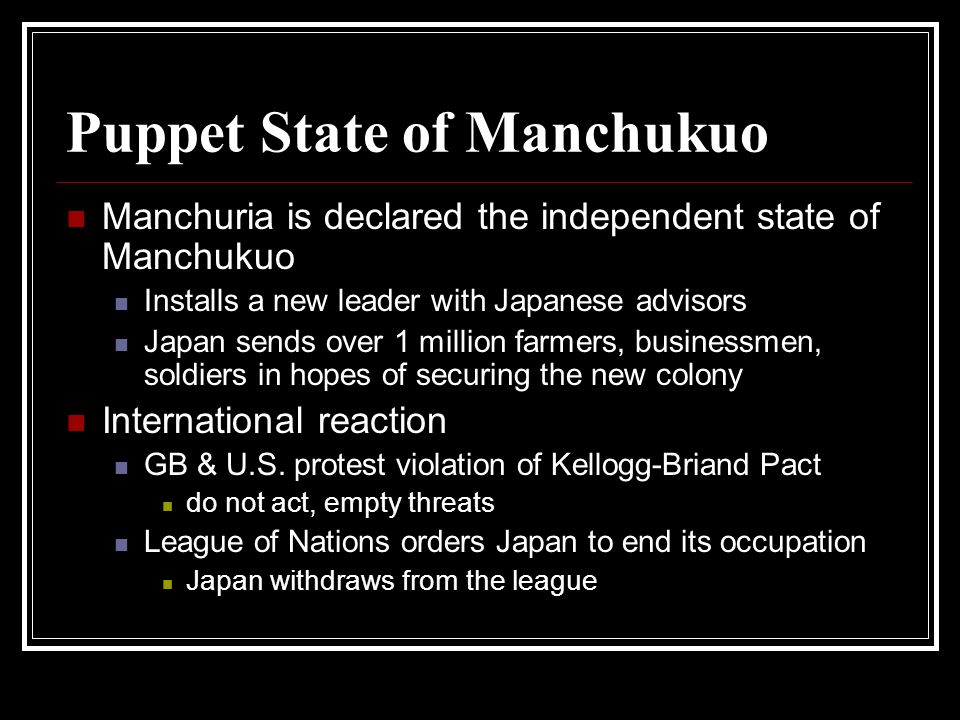 Puppet State of Manchukuo