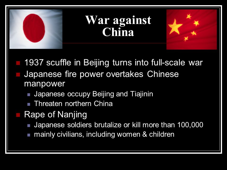 War against China 1937 scuffle in Beijing turns into full-scale war