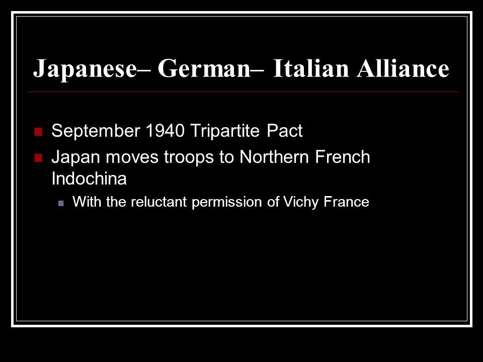 Japanese– German– Italian Alliance