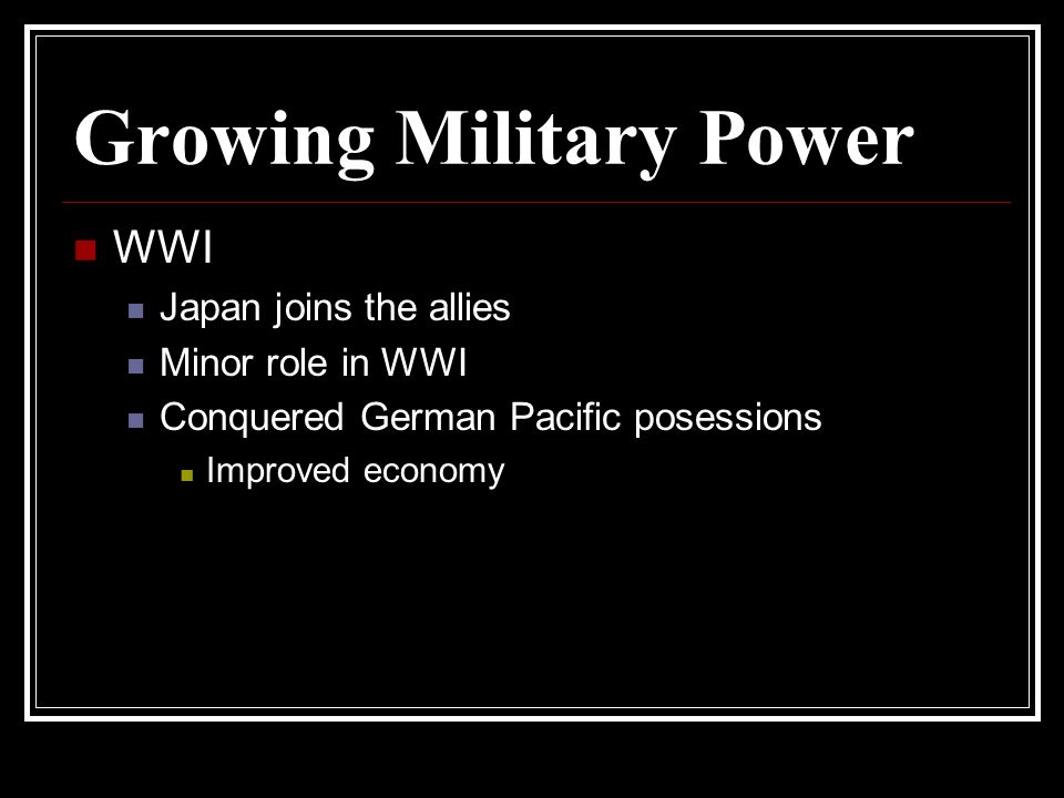 Growing Military Power